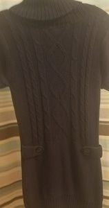 Navy Cable Knit Sweater Dress Sz M